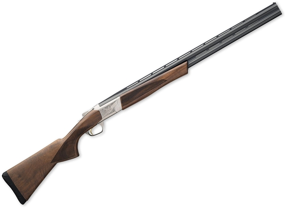 "Picture of Browning Cynergy Field Over/Under Shotgun - 12Ga, 3"", 28"", Vented Rib, Silver Nitride Receiver Finish, Gr. I/II Black Walnut Stock, Ivory Front & Mid Bead Sights, Invector-Plus Flush (F,M,IC)"