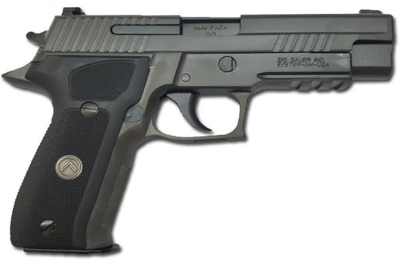 "Picture of SIG SAUER P226 DA/SA Legion Semi-Auto Pistol - 9mm, 4.4"", Legion Black PVD Finish Stainless Steel Slide & Alloy Frame, Black Custom G-10 Grips, 3x10rds, X-Ray Day/Night Sights, Rail"