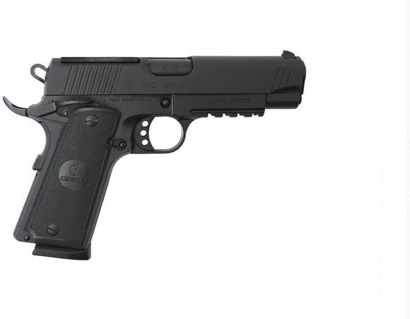 "Picture of Girsan MC 1911 Optic Ready Semi-Auto Pistol - 45 ACP, 4.25"", Black, Picatinny Rail, Optic Ready, Ambidextrous Safety, Black Checkered Grips, White Dot Combat Sights, 2x8rds"