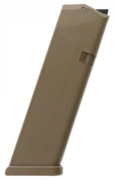 Picture of Glock Pistol Magazine - 9mm, Factory 10rds, Coyote, For 17, 34, 19x