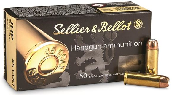 Picture of Sellier & Bellot Pistol & Revolver Ammo - 45 Colt, 230Gr, JHP, 600rds Case