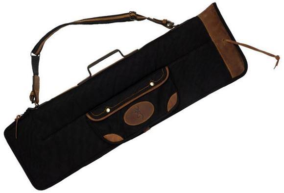 "Picture of Browning Gun Cases, Flexible Gun Cases - Lona O/U Takedown Shotgun Case, 33"", Black, Heavy Duty Canvas, Leather Trim & Handle"