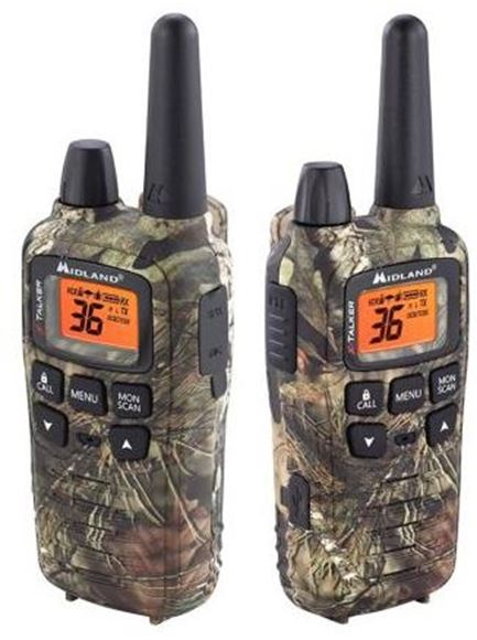 Picture of Midland, Walkie Talkie, Radio - X-Talker, Pair of 2 Way Outfit Radios, 36 Channel, Weather Scan, MOBU Camo
