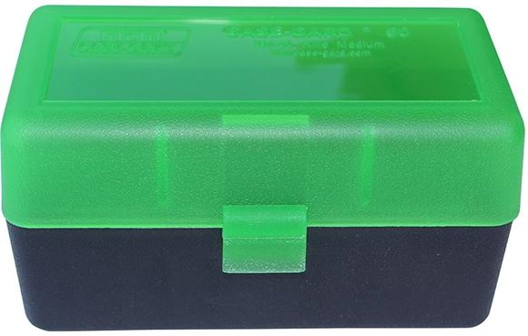 Picture of MTM Case-Gard Rifle Ammo Boxes, R-50 Series - RM-50, 50rds, Green/Black