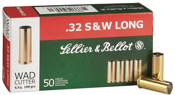 Picture of Sellier & Bellot Brass - 32 S&W Long, No Primer, 50ct