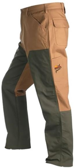 Picture of Browning Outdoor Clothing - Upland Pheasants Forever Pant w/ Embroidered Pheasants Forever Logo, Field Tan Color, 12 oz., Briar Resistant Overlay, Deep Front Pockets, Flap Rear Pockets, Size 38x30