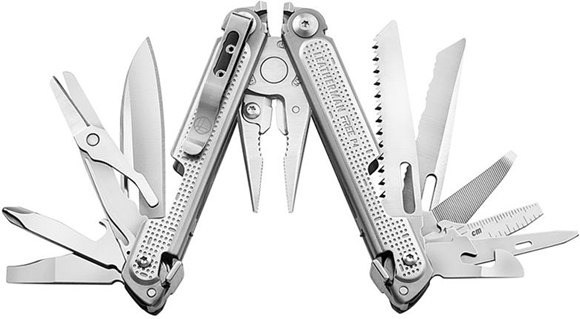 Picture of Leatherman MultiTool, FREE P4 - 21 Tool, Stainless Steel Multi-Tool, Model: P4, 8.6oz