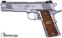 """Picture of Used Kimber 1911 Stainless Raptor II Single Action Semi-Auto Pistol - 45 ACP, 5"""", Brush Polished Stainless, Zebra Wood Scale Pattern Kimber Logo Grips, 8rds, Fixed Tactical Wedge Tritium Night Sights, Ambi Safety, Original Box, Excellent Condition"""