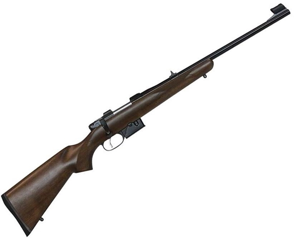 "Picture of CZ 527 Youth Carbine Bolt Action Rifle - 7.62x39mm, 18.5"", Hammer Forged, Blued, Lacquered Finished Straight Line Comb Carbine Walnut Stock, 5rds, Adjustable Single Set Trigger, Fixed Sights, 12.75"" LOP"