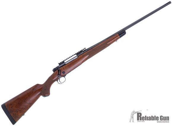 """Picture of Used Winchester Model 70 Super Grade Bolt Action Rifle - 270 Win, 24"""", High Gloss Blued, Satin Grade IV/V Walnut Stock, Weaver Top Rail, Jeweled Bolt Body, M.O.A. Trigger System, Pre-'64 action, 5rds, Excellent Condition"""
