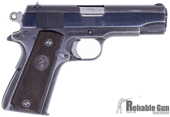 """Picture of Used Colt 1911 Lightweight(1951 or 52 Manufacture) 9mm, 4.25"""" Barrel, Aluminum Frame, 1 Magazine, Good Condition"""