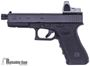 Picture of Used Glock 17 Gen3 Semi Auto Pistol, 9mm Luger, Extended Threaded Silencerco Barrel, Imitation RMR Optic, Original Case, 2x10rd, Excellent Condition