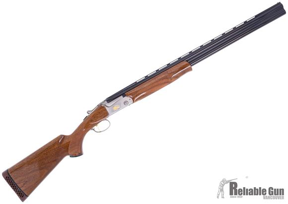 "Picture of Preowned SKB Model 585 Gold Field Over/Under Shotgun, 12ga, 3"", 28"", Pheasant Engraving, 3 Chokes, New in Box"