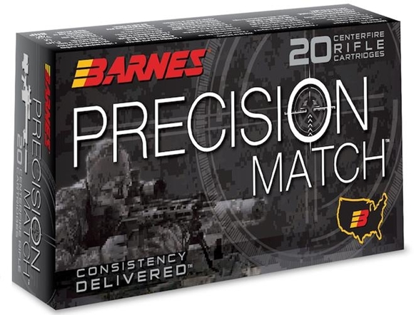 Picture of Barnes Precision Match Rifle Ammo - 6.5 Creedmoor, 140gr, Open Tip Match Boat Tail, 200rds Case
