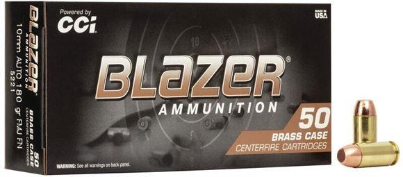 Picture of CCI Blazer Brass Handgun Ammo - 10mm Auto, 180Gr, FMJ FN, 50rd Box