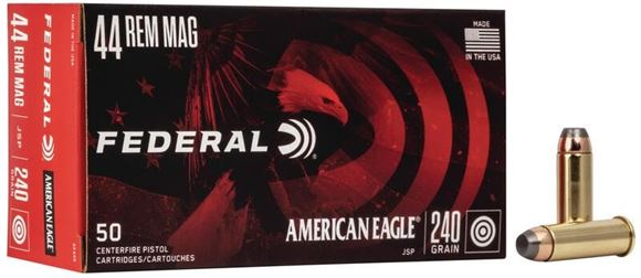 Picture of Federal American Eagle Handgun Ammo - 44 Rem Mag, 240Gr, JSP, 50rds Box