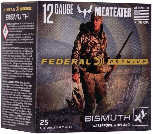 "Picture of Federal Premium Meateater Signature Waterfowl/Upland Load Shotgun Ammo - 12Ga, 3"", 1-3/8oz, #4, Bismuth, 1450fps, 25rds Box"