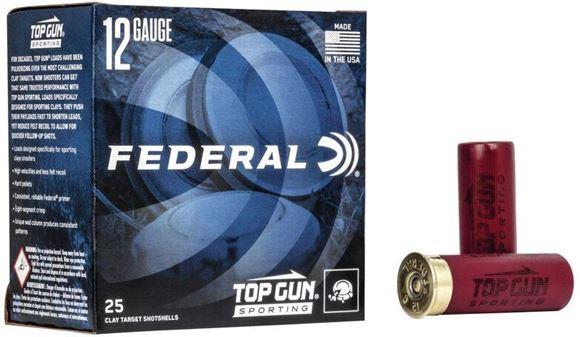 "Picture of Federal Top Gun Target Load Shotgun Ammo - 12Ga, 2-3/4"", MAX DE, 1oz, #7-1/2, 1330FPS, 250rds Case"