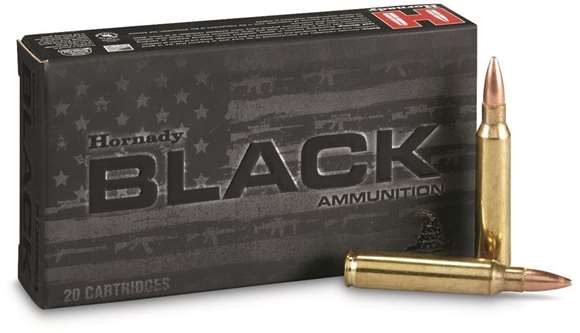 Picture of Hornady Black Rifle Ammo - 223 Rem, 62gr, Full Metal Jacket, 200rds Case