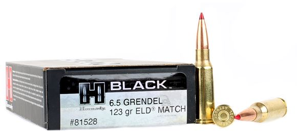Picture of Hornady Black Rifle Ammo - 6.5 Grendel, 123Gr, ELD Match, 200rds Case