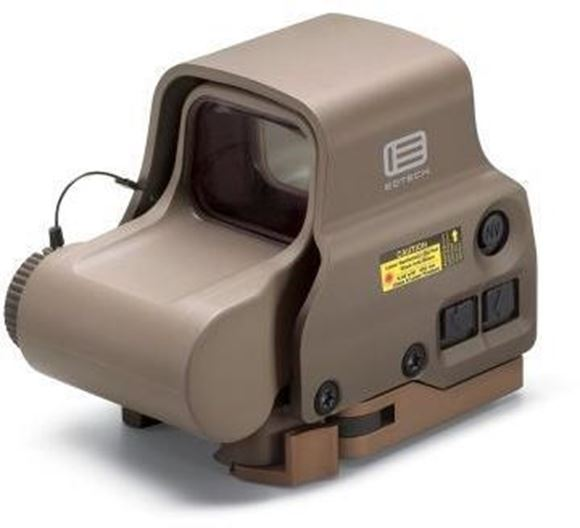 Picture of EOTech Holographic Weapon Sights - Model EXPS3, Tan, 65 MOA Ring & 1 MOA Dot, Night Vision Compatible, 20DL+10NV Setting, Submersible to 33ft (10m), CR123A Battery, 600hrs @ Setting 12