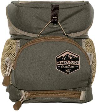 Picture of Alaska Guide Creations Binocular Harness Packs - Hybrid With MAX Pocket Bino Pack, Ranger Green, Fits Up To 10x42 Binoculars, & Medium Sized Rangefinders
