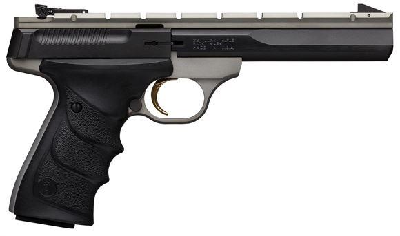"Picture of Browning Buck Mark Contour 5.5 URX Semi-Auto Rimfire Pistol - 22 LR, 5.5"", Special Contour Barrel, Grey Frame, URX Grips, 10rds, Adjustable Pro-Target Rear & Patridge-Style Front Sight , Weaver Style Optic Rail"