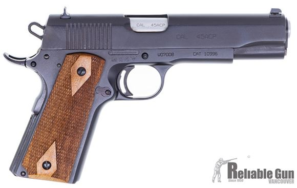 Picture of Used Tanfoglio 1911 Witness Semi Auto Pistol, 45 ACP, Blued/Wood, 7 Rd, Modified Trigger, Good Condition