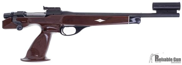 """Picture of Used Remington XP-100 Bolt Action Pistol, 7mm BR Rem, Nylon Grip, Globe Front Sight, Adjustable Rear Sight, 15"""" Barrel, Good Condition"""