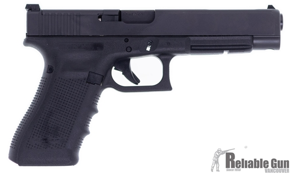 """Picture of Used Glock 34 Gen4 MOS Competition Safe Action Semi-Auto Pistol - 9mm, 5.31"""", Black, 3x10rds, Adjustable Sight w/Modular Optic System Configuration, Set of Adapter Plates, Original Box, Excellent Condition"""