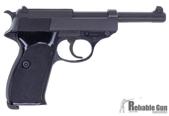 """Picture of Used Walther P1 Semi Auto Pistol, 9mm Luger,5"""" Barrel, Original Test Target, 1 Mag, Good Condition"""