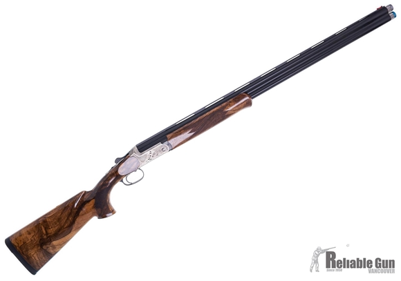"""Picture of Blaser F3 Luxus Competition Sporting Standard Over/Under Shotgun - 12Ga, 3"""", 32"""", RH, Vented Rib, Blued, Silver Receiver w/ Engraved Scrollwork, Gloss Grade 7 Walnut Stock w/Beavertail Forearm, HIVIZ Front Bead, Spectrum Extended Chokes (SK,IC,LM,M,IM)"""