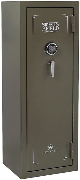 """Picture of Sports Afield Journey Gun Safes - SA5520J, Electronic Lock, Olive Color, 55"""" x 20"""" x 17"""", Non-Fire"""