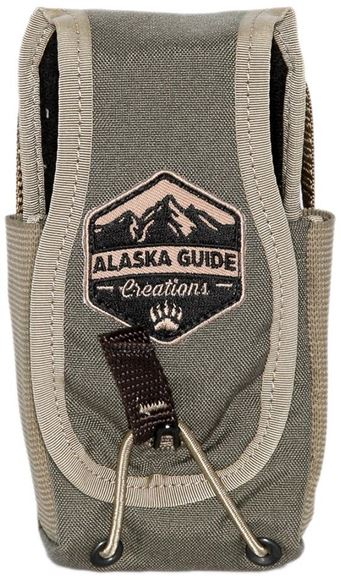 "Picture of Alaska Guide Creations Bino Pack Accessories - In Line Accessory Pouch, Ranger Green, 3"" (Width) x 4-7.5"" (Adjustable Height) x 2.5"" (Depth)"