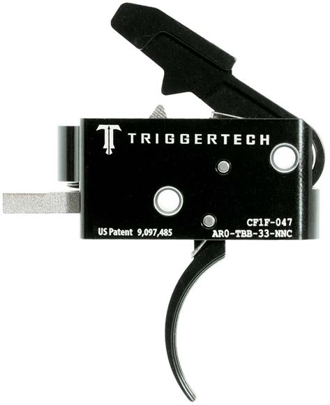 "Picture of Trigger Tech AR-15 Competitive Trigger Group - Competitive, Curved, Fixed at 3.5lbs, Short Two-Stage, Mil-Spec 0.154"" Pins. PVD Black"