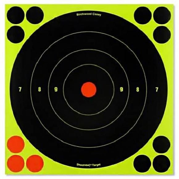 """Picture of Birchwood Casey Targets, Shoot-N-C Targets - Shoot-N-C 3"""" Bull's-Eye Target, 240 Targets (60-Pack)"""