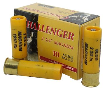 "Picture of Challenger Hunting Loads Shotgun Ammo - Magnum Slug, 20Ga, 2-3/4"", 7/8oz, Slug, 10rds Box, 1610fps"