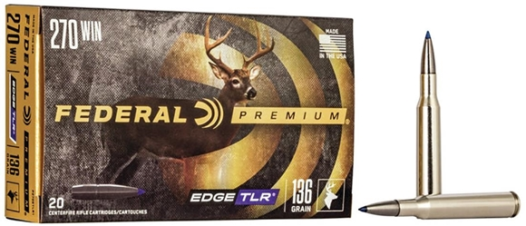 Picture of Federal Premium Edge TLR Rifle Ammo - 270 Win, 136Gr, Edge TLR, 20rds Box