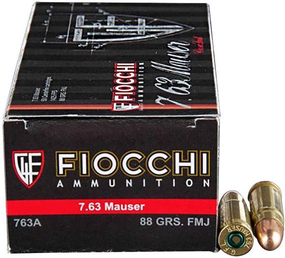 Picture of Fiocchi Pistol & Revolver Ammo - 7.63 Mauser, 88gr, FMJ, 50rds