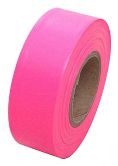 """Picture of G. Hjukstrom Hunting Accessories - Flagging Tape, 1"""", Pink Glow, 3mil x 50yrds"""