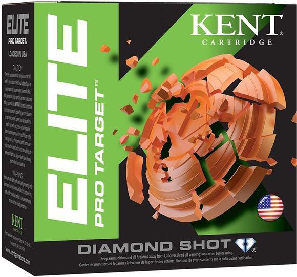 """Picture of Kent Elite Pro Target Shotgun Ammo - 12Ga, 2-3/4"""", 1-1/8oz, #8, 25rds Box, 1250fps"""