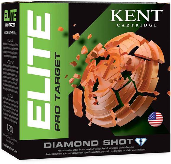 """Picture of Kent Elite Pro Target Shotgun Ammo - 12Ga, 2-3/4"""", 1-1/8oz, #7.5, 25rds Box, 1300fps"""