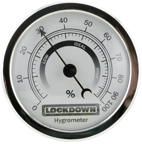 Picture of Lockdown Accessories, Humidity Gauge - Hygrometer, Accurate Humidity Readings, Easy to Mount, Inner Safe Gauge