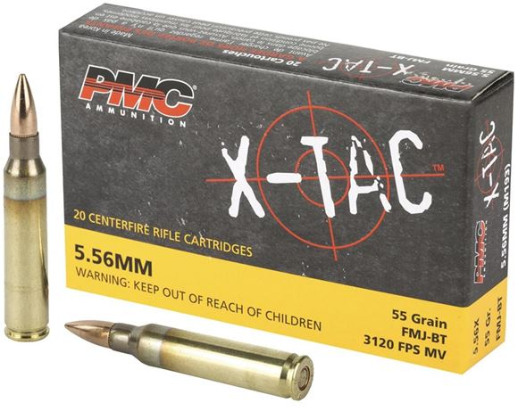 Picture of PMC X-TAC  Rifle Ammo - 5.56 NATO, 55Gr, FMJ-BT, 1000rds Case