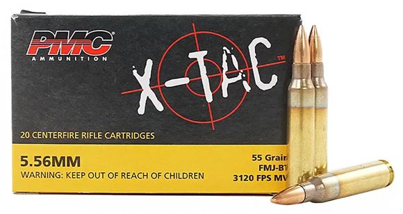 Picture of PMC X-TAC  Rifle Ammo - 5.56 NATO, 55Gr, FMJ-BT, 20rds Box