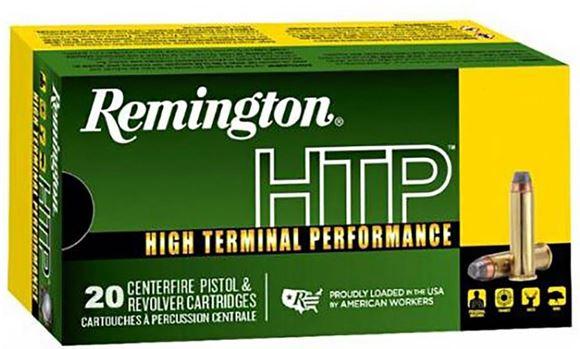 Picture of Remington HTP High Terminal Performance Pistol Ammunition - 38 Special +P, 125gr, SJHP, 20rds Box