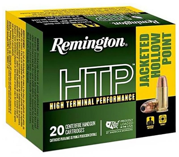 Picture of Remington HTP High Terminal Performance Pistol Ammunition - 40 S&W, 180gr, JHP, 20rds Box