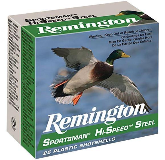 "Picture of Remington Waterfowl Loads, Sportsman Hi-Speed Steel Shotgun Ammo - 10Ga, 3-1/2"", MAG DE, 1-3/8oz, #2, 250rds Case, 1500fps"
