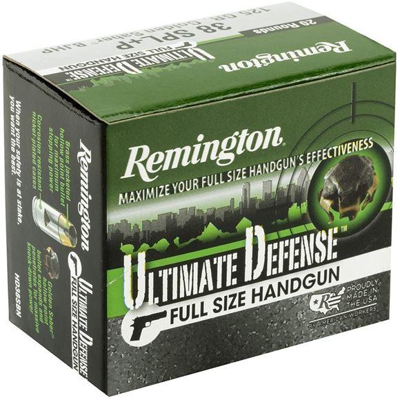 Picture of Remington Ultimate Defence Full Size Handgun, Pistol Ammunition - 38 Special +P, 125gr, Golden Saber BJHP, 20rds Box