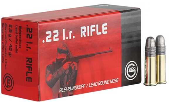 Picture of RWS Geco Line Rimfire Ammo - 22 LR, 40Gr, Solid Lead, Optimized for Bolt Action, 500rds Brick